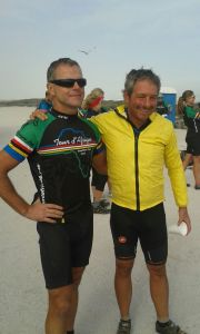 Two of the top cyclists